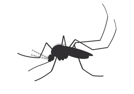 icon mosquito Ilustração