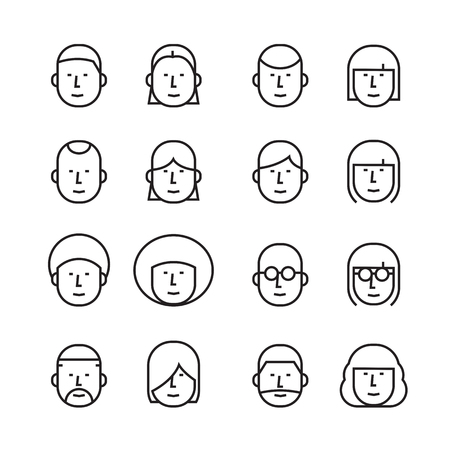 icon face people Ilustrace