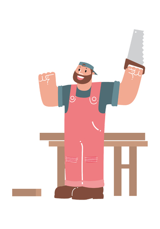 cartoon carpenter Ilustrace
