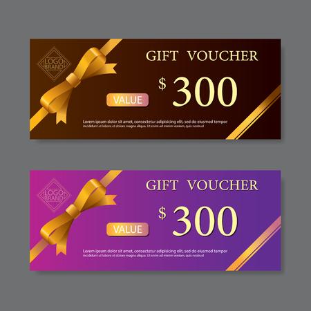 template gift voucher  イラスト・ベクター素材
