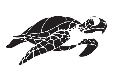 tortuga marina gráfica Ilustración de vector