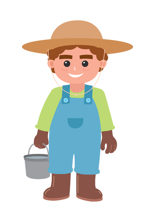 cartoon farmer Ilustrace