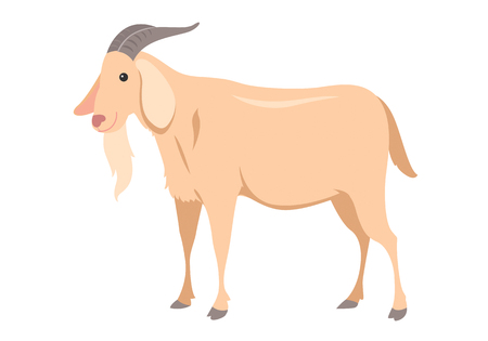 cartoon goat Ilustrace