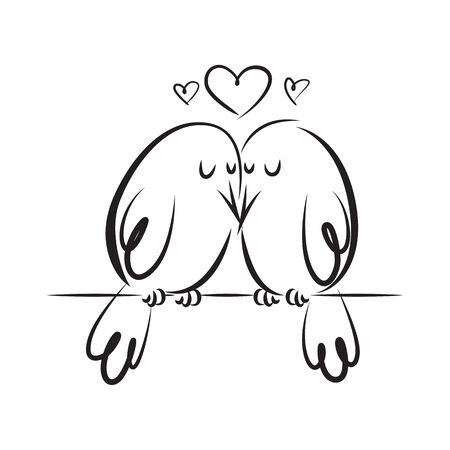 love birds Ilustrace
