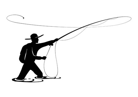 graphic fisherman Illustration