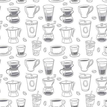 seamless pattern coffee  vector illustration Иллюстрация