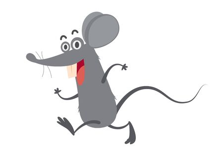 cartoon rat walking, vector