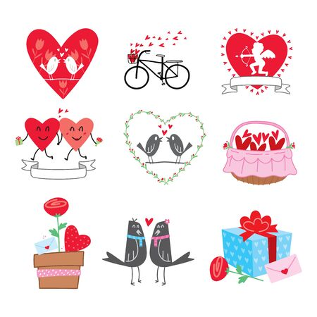 collection cartoon valentine's day, vector