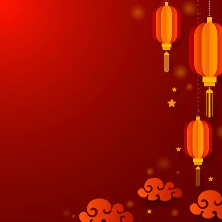 Chinese new year greeting card, vector