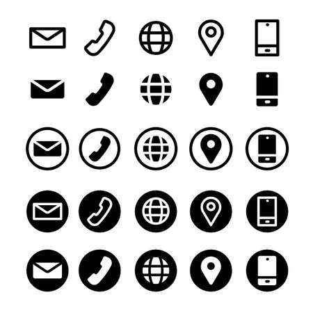 simple icon contact on white background, vector