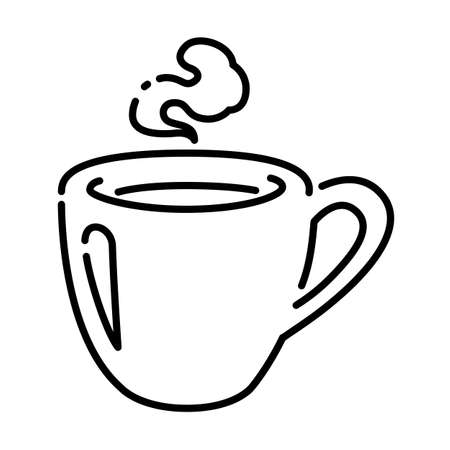 Hot coffee cupgraphic on white background, vector