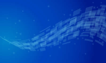 glass wave on blue background. abstract technology big data. vector