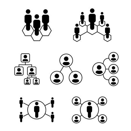 People icon for your network or company position, simple design symbol Иллюстрация
