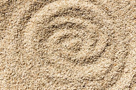 medium close up: Brown rice background texture Stock Photo