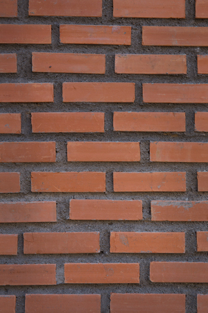 Square  brick wall background Stock Photo