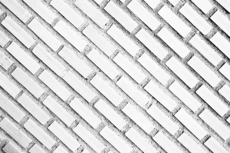 Vintage white Square  brick wall background