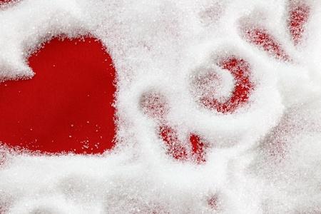 Heart sugar photo