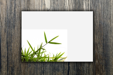 Wood picture frame Stock Photo - 9501668