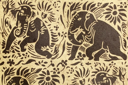 Thai Elephant pattern Stock Photo - 9632191