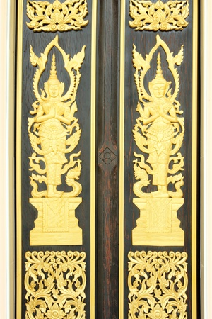 Thai style of pattern on door