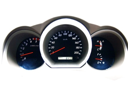 dash: car dashboard  Stock Photo
