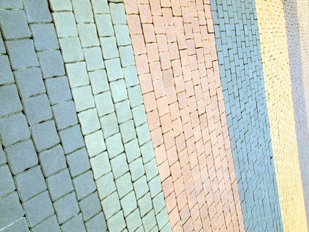 A background texture of a brick road  photo