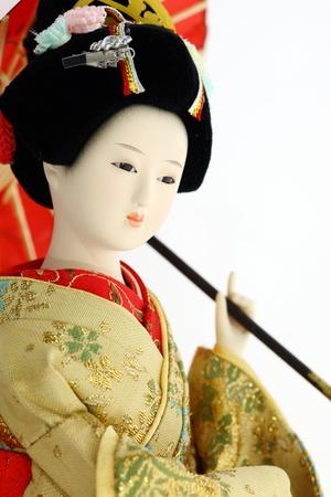 Japanese geisha doll  Stock Photo