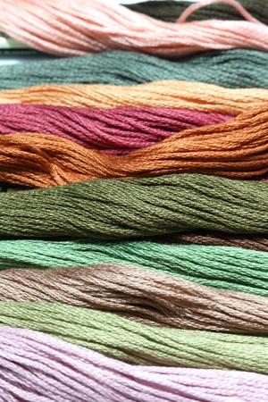 Multicolored yarn  Stock Photo