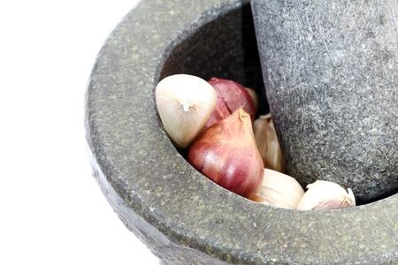 morter: Stone mortar and pestle