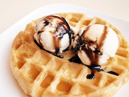 gofres: Barquillos y helados.