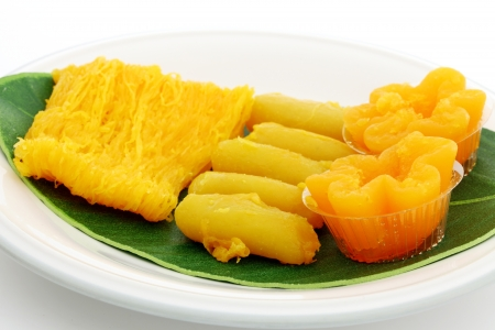 Thai desserts.  Stock Photo