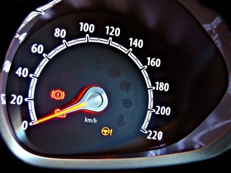 compteur de vitesse: tableau de bord
