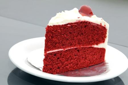 terciopelo rojo: pastel de terciopelo rojo Foto de archivo