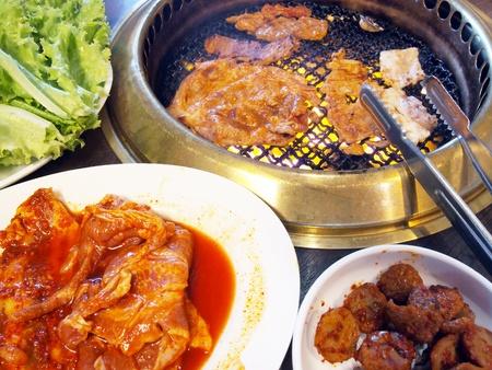 Grilled Pork Korea.  Stock Photo