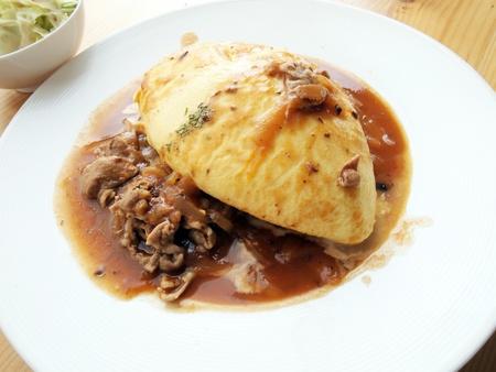 japon food: Omelette de riz au Japon alimentaire Banque d'images