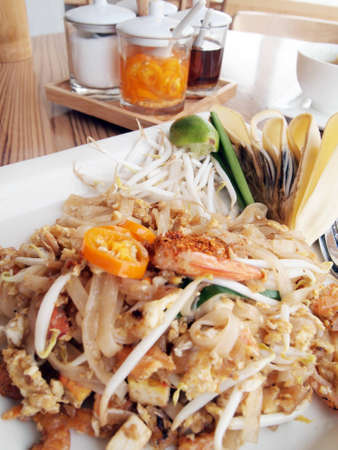 Pad thai  Thai noodle style  photo