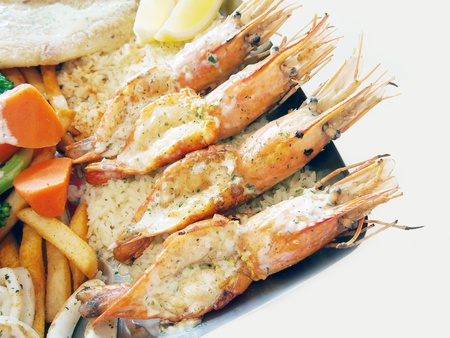 Mix seafood Grill  Stock Photo