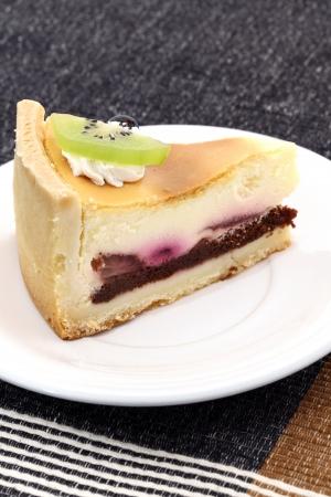 A single slice of blueberry cake  photo