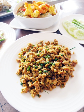 Stir-fried spicy pork   photo
