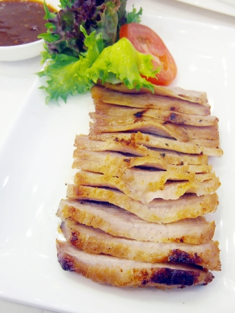 Thai grilled pork  photo