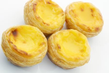 egg tart: Egg tart  Stock Photo