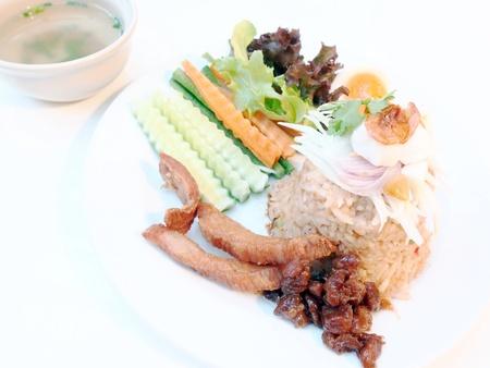 Fried rice with shrimp paste   photo