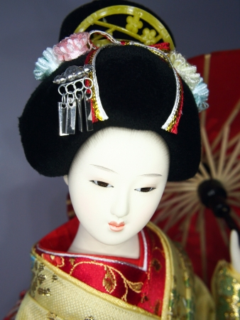 Japanese geisha doll  photo