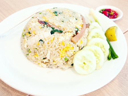 Fried rice with seafood  photo