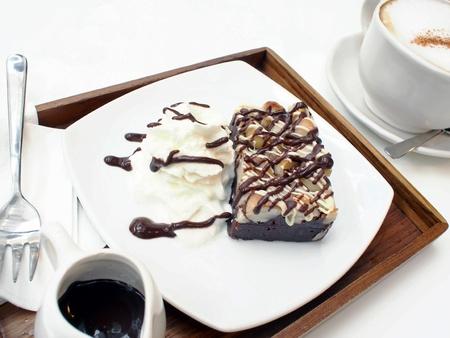 macadamia: Brownie macadamia Banque d'images