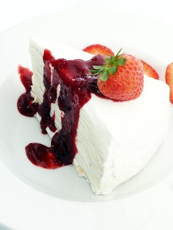 Strawberry layers cake  photo