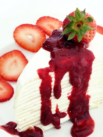 Strawberry layers cake  photo