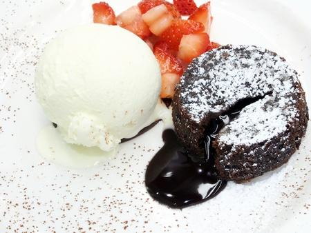 molted: pastel de chocolate de lava