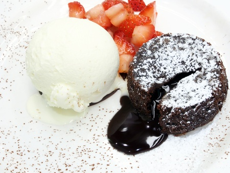 fondant: torta al cioccolato di lava