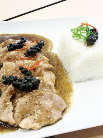 Pork rice  photo